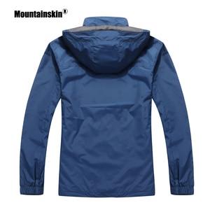 Image 5 - Мужская повседневная куртка Mountainskin, водонепроницаемая ветровка с капюшоном, брендовая одежда, размеры до 5XL, осень 2020