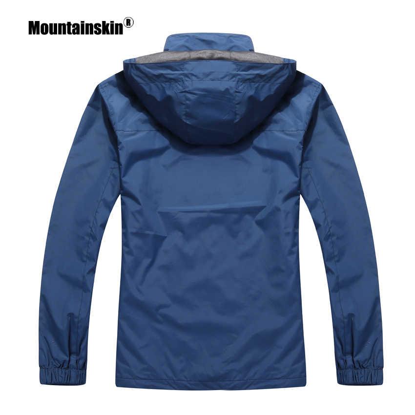 Piel de montaña 2018 nuevas chaquetas casuales para hombres prendas de vestir exteriores de otoño impermeable cortavientos Abrigo con capucha para hombres ropa de marca 5XL SA545