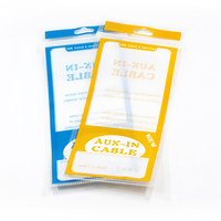 DHL 1600pcs/lot 8.5*18.5cm Plastic Poly Bag For AUX Audio Data Cable Storage Electronic Accessories Data Line Package Bags