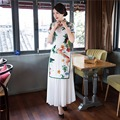 Shanghai Story 2017 Vietnam ao dai Chinese traditional dress qipao long Chinese cheongsam dress robe chinoise modern cheongsam