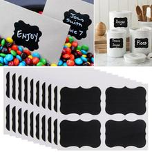 36Pcs/Set  PVC Material Blackboard Sticker Craft Kitchen Jar Organizer Labels Chalkboard Chalk Board Stickers Black