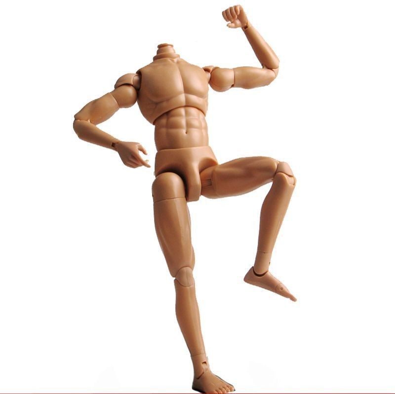 "ФОТО dragon 1:6 scale nude body male narrow shoulder muscle man 12"" figure neo-3 human figure body f 1/6 head sculpt doll toys"