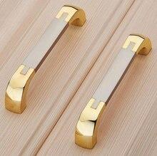 Dresser Drawer Pull Handles Knob Gold Metal Pulls / Shabby Chic Vintage Style Cabinet Handle Knobs Hardware