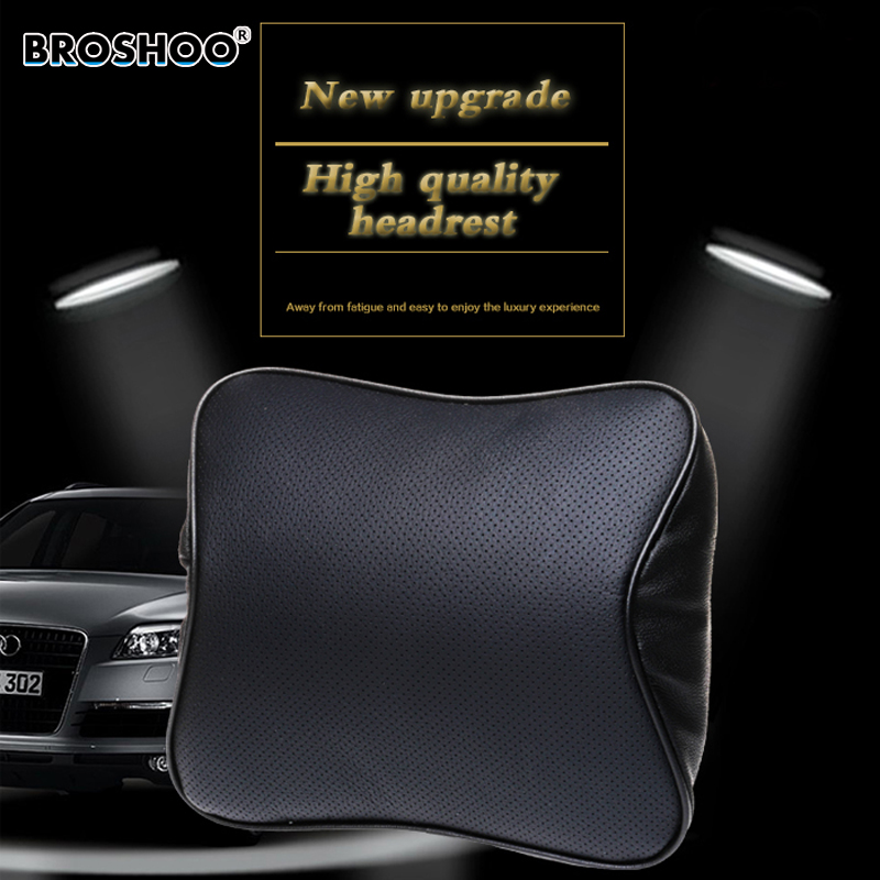 BROSHOO Car Styling Memory Foam Travel Pillow Neck Support Head Rest Auto Head Pillow Leather Pillow Reduce Driving Fatigue mocha slow rebound memory pillow neck support memory foam pillow