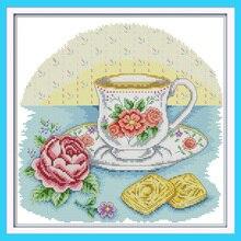 Afternoon Tea Time Still Life Canvas DMC Cross Stitch Kits A
