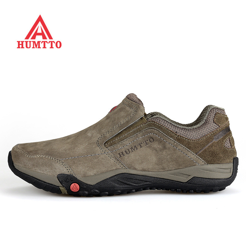 Humtto Spring Men's Genuine leather Hiking Shoes Slip-on Outdoor 2016 Trek Sport Men Climbing Outventure Sapatos Masculino