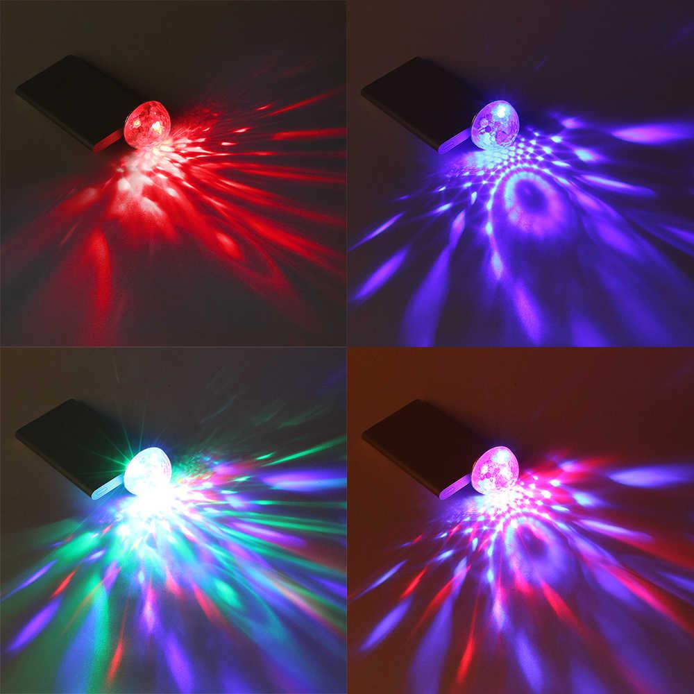 FORAUTO Xe Ô Tô Đèn LED Đèn Trang Trí Mini RGB Bầu Không Khí Đèn Nội Thất Ô Tô Đèn LED USB Câu Lạc Bộ Disco Magic Ứng Sân Khấu Đèn Xe Ô Tô tạo Kiểu Tóc