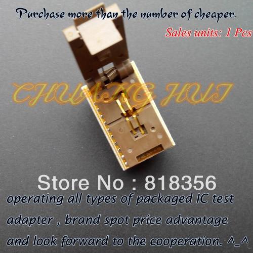 DFN5mm*3.2mm test socket QFN4 DFN4 WSON4 MLF4 to DIP4 programmer adapter dfn5mm 3 2mm test socket qfn4 dfn4 wson4 mlf4 to dip4 programmer adapter