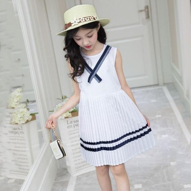 e401e3f42 Ropa de niños niñas vestido verano 2019 niño niña Marina estilo princesa  fiesta bebé para Niñas 6 7 8 T