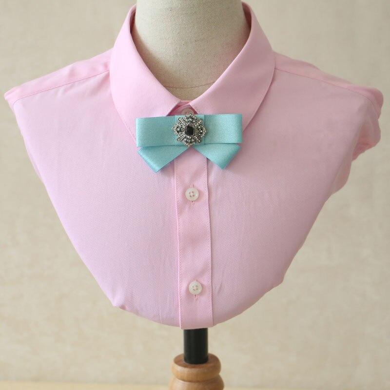 Boy's Tie Boy's Accessories British Boy Girl Double Layer Neck Collar Shirt Bow Tie Cravat New Classical Children School Butterfly Rhinestone Student Bowtie Elegant And Sturdy Package