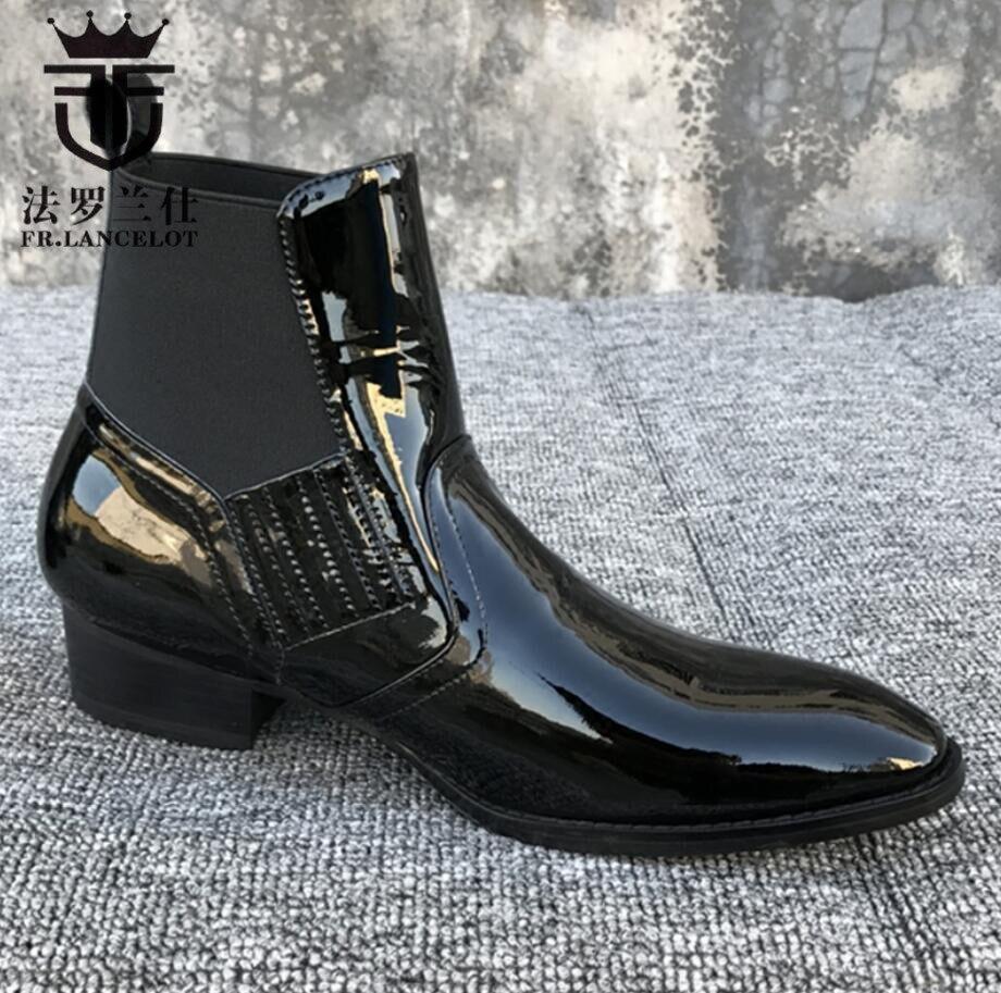 Slip Cuir Courtes Ronde 2 Nouveau Chelsea Chaussures Toe De Hommes As 3 Design 2019 1 as Showed Bottes FrLancelot Sur Marque as Véritable Bottines Hiver En Luxe 0vNwm8n