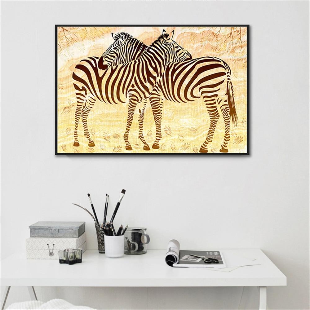 3 Piece/Set Black White Zebra Animal Canvas Art Painting Pinto Wall ...