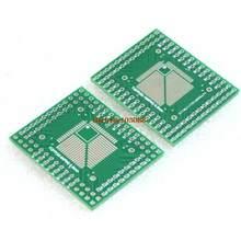 Turn ah robot】 5 pces qfp tqfp lqfp fqfp 32 44 64 80 100 lqf smd volta para dip adaptador placa conversor pcb 0.5/0.8mm
