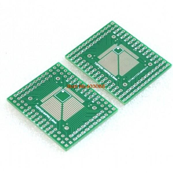 5 шт. QFP TQFP LQFP FQFP 32 44 64 80 100 LQF SMD адаптер для DIP PCB плата конвертер пластина 0,5/0,8 мм