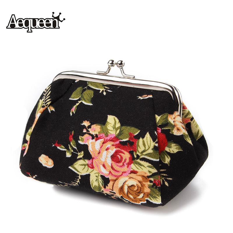 Flower Printing Womens Coin Purses Women Wallets Mini Card Holders Canvas Lady Change Key Purse Girls Cute Money Bags Hasp 2016 coin bag creative flower women coin purses fresh syle key wallets canvas girls child gift wallets small purse b0234
