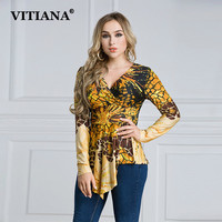 2017 Autumn Women Plus Size Casual Shirt Leopard Print Long Sleeve High Stretch Sexy Female Elegant