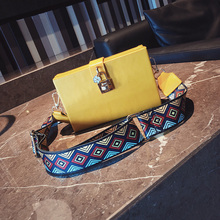 High Quality Personality Wide Shoulder Strap Small Square Bag New Fashion Simple Shoulder Bag Casual Wild Messenger Bag Female