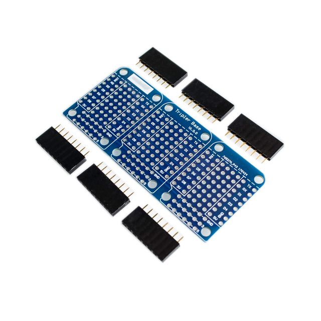 Triple Shield For WeMos D1 Mini Dua Sided Perf Board For Arduino Compatible