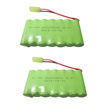 2 unids 8.4 V batería 2400 mAh ni-mh batería 8.4 V pilas recargables NiMH 8.4 V AA tamaño ni MH para RC coche juguete herramientas modelo