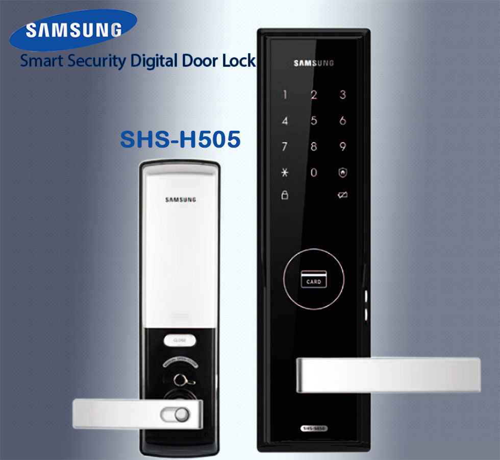 SAMSUNG SHS-H505 Digital Door Lock - US/English Version Big Mortise (password+key+card) пульт samsung shs darcx01