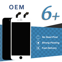 10pcs Original OEM Quality Display For IPhone 6 Plus LCD Touch Screen Fully Assembly 5 5