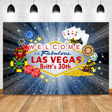 Las Vegas Birthday Party Backdrop City Night Adult Casino Photography Backdrops Custom Decoration Background
