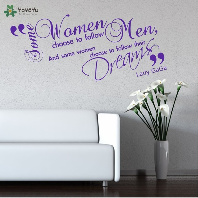 Lady Gaga Wall Quote Decal Lounge Room Vinyl Wall Stickers Interior Art  Mural Singer Music Home