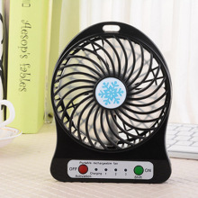 купить Battery Personal Portable Desk Fan Mini USB with LED Light Rechargeable Cooling Fan по цене 772.46 рублей