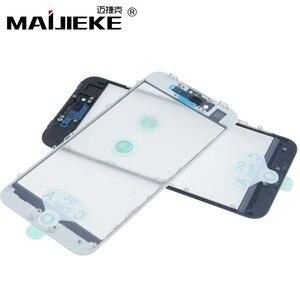 Image 2 - Pantalla de prensado en frío 3 en 1, cristal frontal + marco + película OCA para iphone XR, XS, X, 8 plus, 7, 6s, 6 plus, piezas de repuesto de vidrio 5s, 10 Uds.