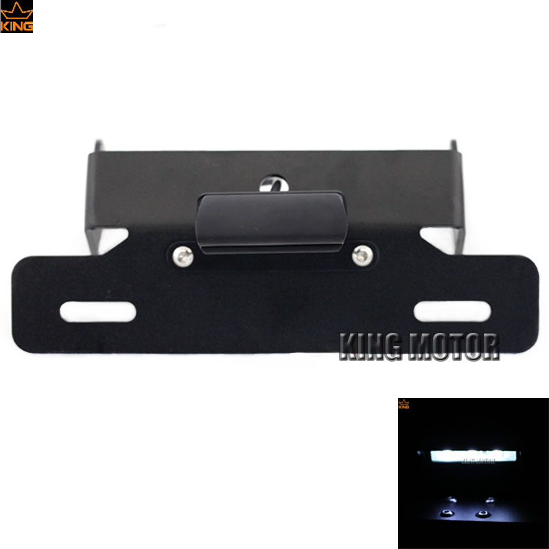 For HONDA CBR600RR 2003-2006 CBR1000RR 2004-2007 Motorcycle Fender Eliminator Registration License Plate Holder Bracket LED aftermarket free shipping motorcycle parts eliminator tidy tail for 2006 2007 2008 fz6 fazer 2007 2008b lack