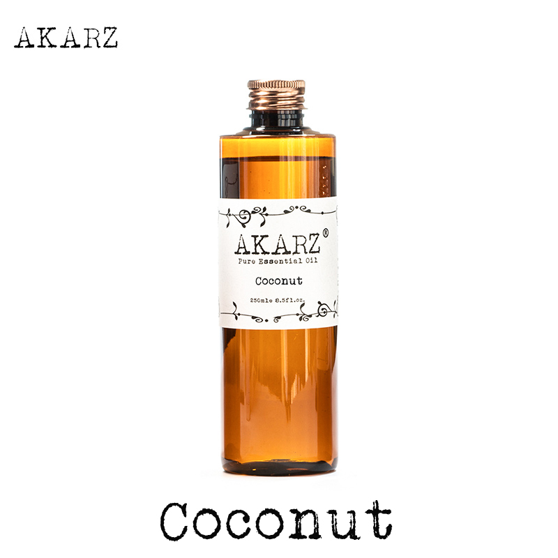AKARZ Famous brand coconut cocos oil natural aromatherapy high-capacity skin body care massage spa coconut essential oil