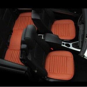 Image 4 - Capa de assento de carro de luxo couro universal preto tampas de assento de carro todo cercado almofada de assento de carro