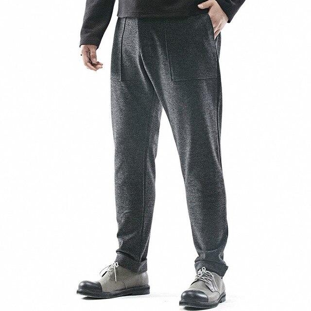 Плюс размер 2XL ~ 6XL мужская тренировочные брюки высокое качество мода повседневная брюки мужские ретро шерсть сгустите брюки мужчины свободно гарем брюки L426