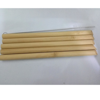 5PCS/Set 20cm Pointed Smoothie Drinking Straw Eco Friendly Reusable Bamboo Straws Big Wide Bubble Milk Tea Drinking Straw Brush 4
