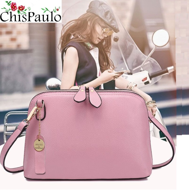 CHISPAULO Famous Brand Designer Fashion Cowhide Women Genuine Leather Handbags Vintage Female Messenger Crossbody Bags Lady X52 chispaulo luxury brand women genuine leather handbags designer female crossbody bag fashion women s shoulder bags lady bags x21