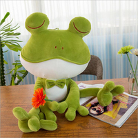 Cute Close Eyes Frogs Plush Toy Stuffed Animal Forg Plush Doll Creative Children's Birthday Gift