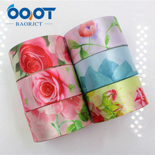 OOOT BAORJCT 1711141,Flower satin ribbons,25mm ,10 yards The tape for Sewing ,Wedding