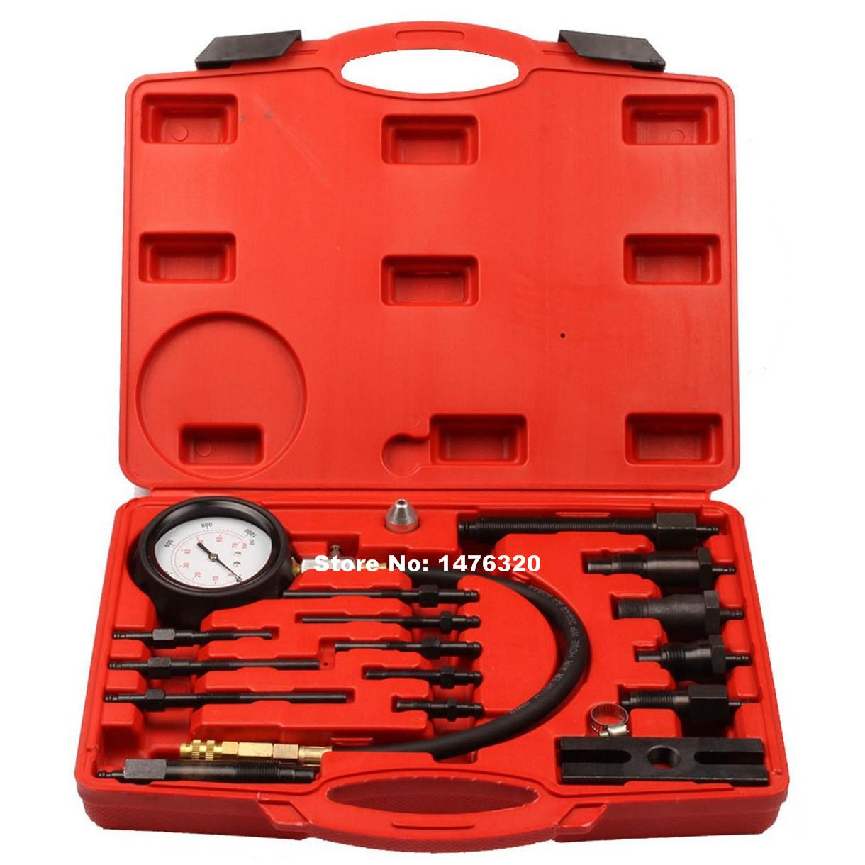 Automotive Diesel Engine Cylinder Compression Pressure Diagnostic Test Gauge Tool Set AT2128