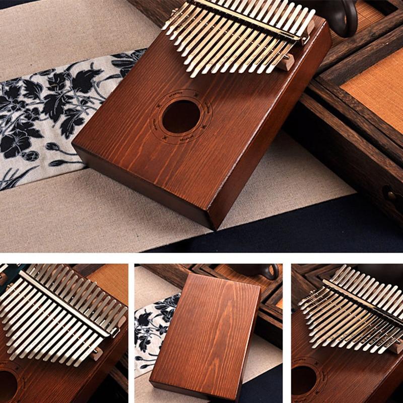 Kalimba madeira maciça mbira Piano de mão