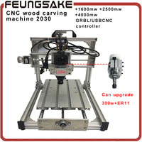 CNC 2030 Support Laser GRBL USBCN Diy Mini CNC Machine 180w Spindle Engraving Machine 3 Axis