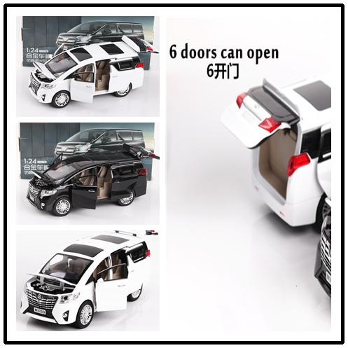 Us 26 39 9 Off Aliexpress Com Buy Free Shipping 1 24 Toyota Alphard Mvp Model Car Alloy Diecast Car Model Pull Back Metal Car Electronic Cars Toys