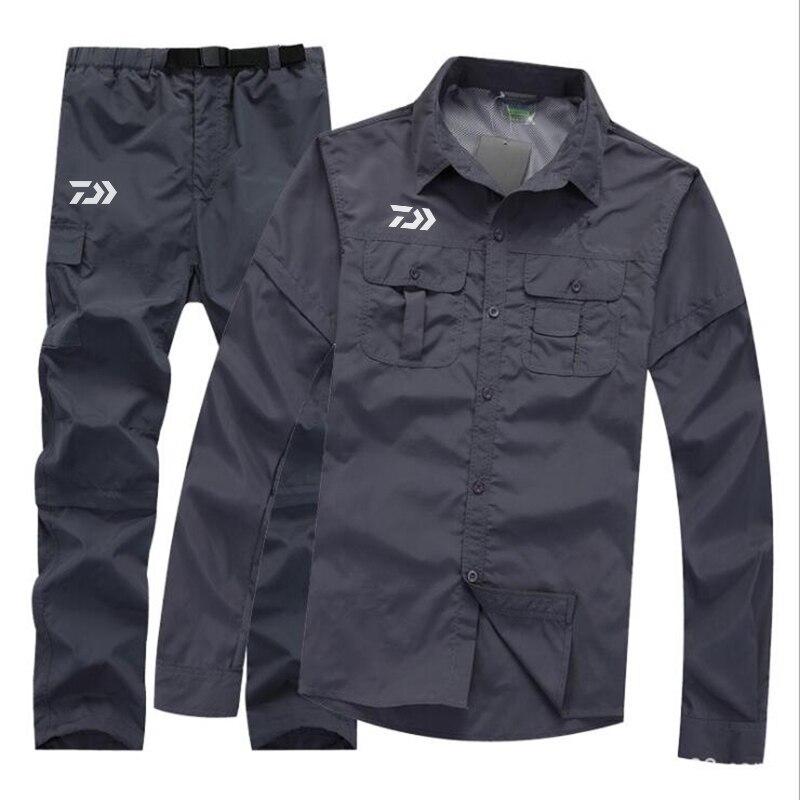 DAIWA Windproof Fishing Sets Outdoor Fishing Clothing Breathable Anti UV Quick Dry Fishing Clothes Rainproof Detachable