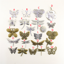 20Pcs Wholesale Bulk Diy Jewelry Accessories Butterfly Hand Made Charms For Women Backless Dress HK024