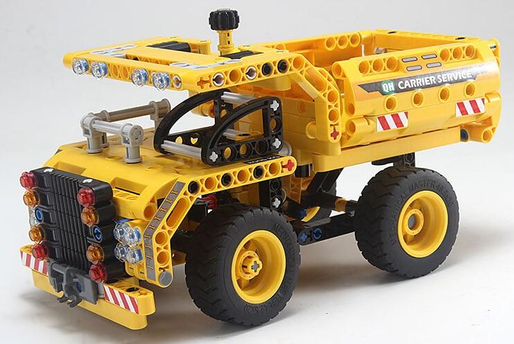 2016 new 361pcs legoe set Yellow truck Building Blocks Educational DIY Legoe Construction Kids Gift Bricks
