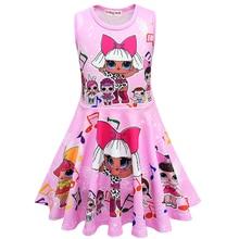 hot deal buy 2019 lol dolls baby dresses summer cute elegant dress kids party christmas costumes children clothes princess lol girls dress