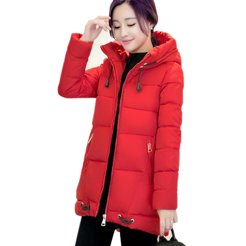 2017 fashion winter jacket women new long section hooded large size parka mujer hot down jacket female thick snow coat QH0413 2017 new winter fashion women down jacket hooded thick super warm medium long female coat long sleeve slim big yards parkas nz18