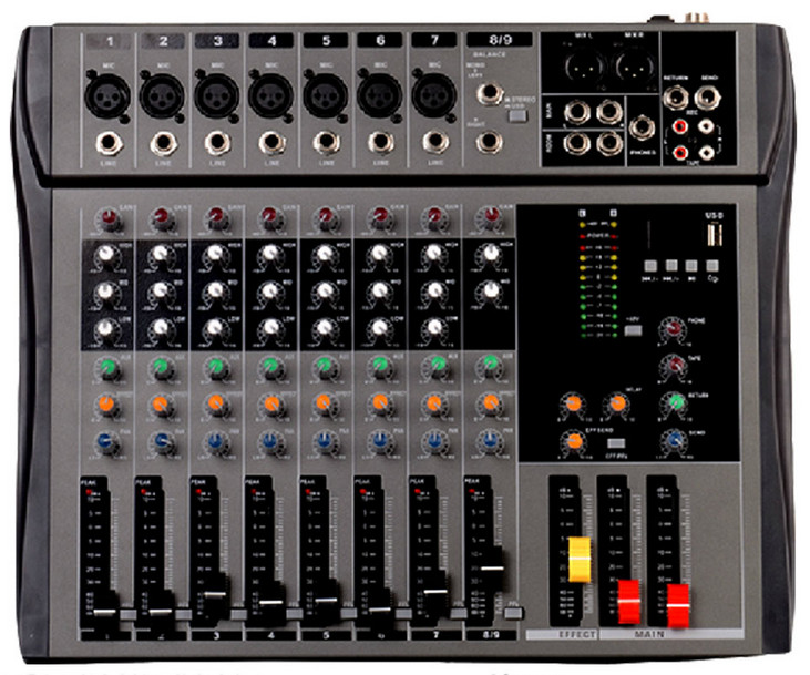US $202 0 |CT90S USB 8 channel mixer with stereo input and USB display-in  Radio & TV Broadcast Equipments from Consumer Electronics on Aliexpress com