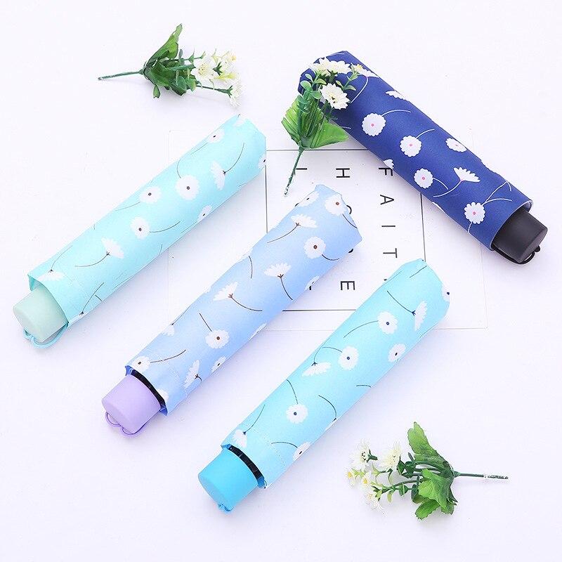 Trois parapluie pliant pluie femmes cadeau hommes Mini Parasol filles imperméable Portable voyage parapluie petit parapluie