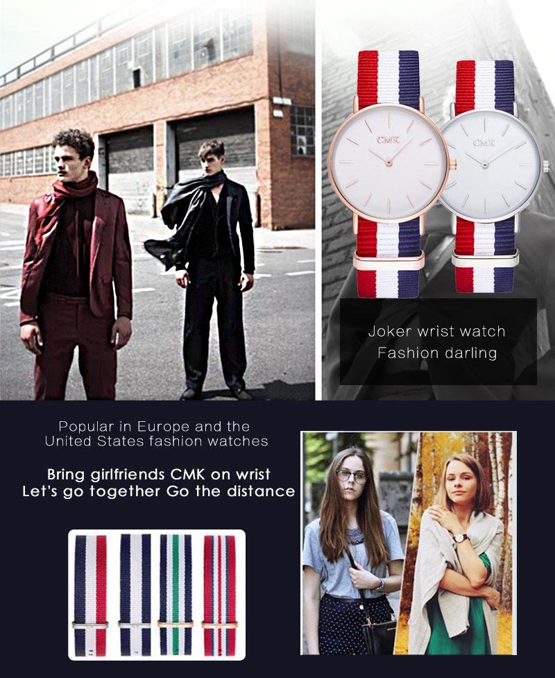ساعة يد موضة 2018 للرجال والسيدات بالوان عديدة 2