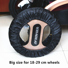 2 Pcs Stroller Accessories Wheels Covers for 12-29 CM Wheelchair Baby Carriage